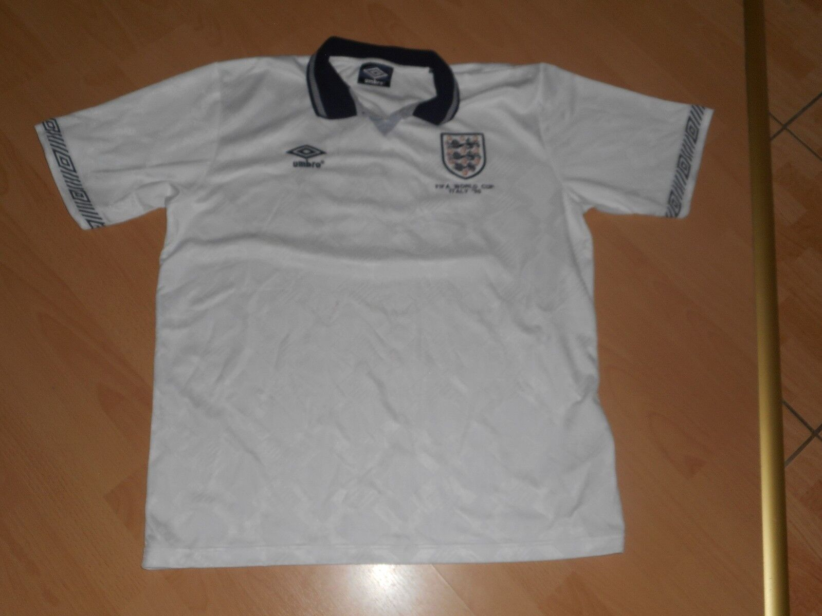 1990 England Umbro  90 World Cup 19 Gazza Football Shirt Dimensione xl