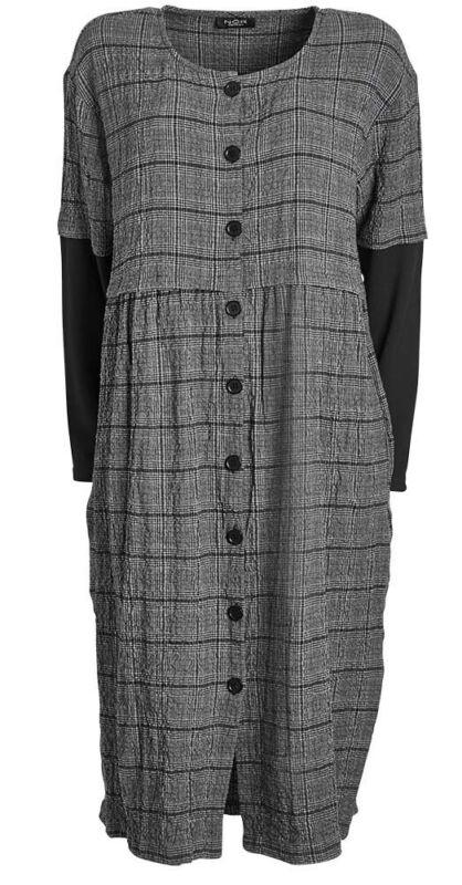 100% QualitäT N+ By NÖr Denmark Ausgefallenes Kleid Rosina Gr.52 Kariert DurchgeknÖpft üBereinstimmung In Farbe