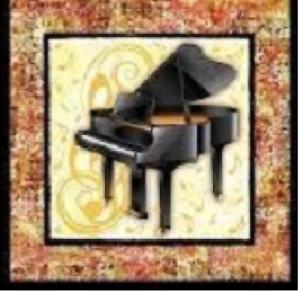 """QT Piano Fabric Panel  9.5/"""" x 10/"""" remnants patchwork bundles 100/% cotton"""