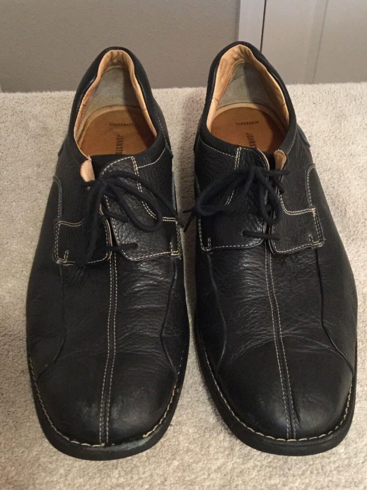 JOHNSTON & MURPHY Black Oxford Casual Shoes. Size 16M. Excellent Condition.