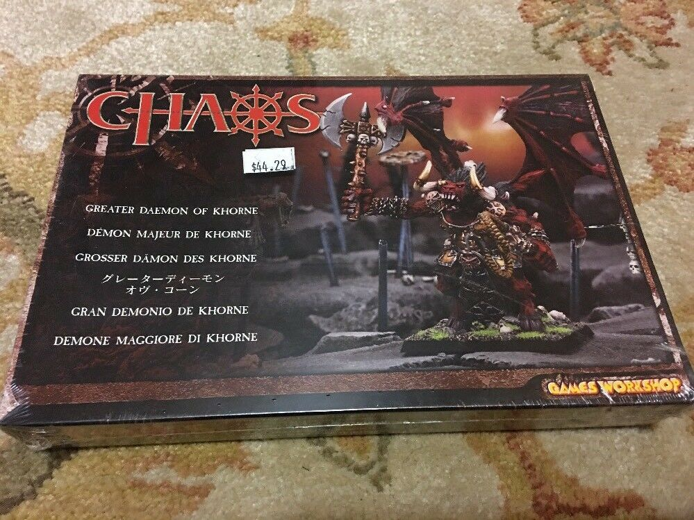 Chaos Greater Daemon Of Khorne Games Workshop NOS Factory Sealed Rare Look