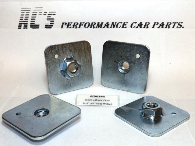 "4x 65mm x65mm x3mm -7/16"" unf Thread Harness Eyebolt Back Plate W.N (GE50BS-FIA)"