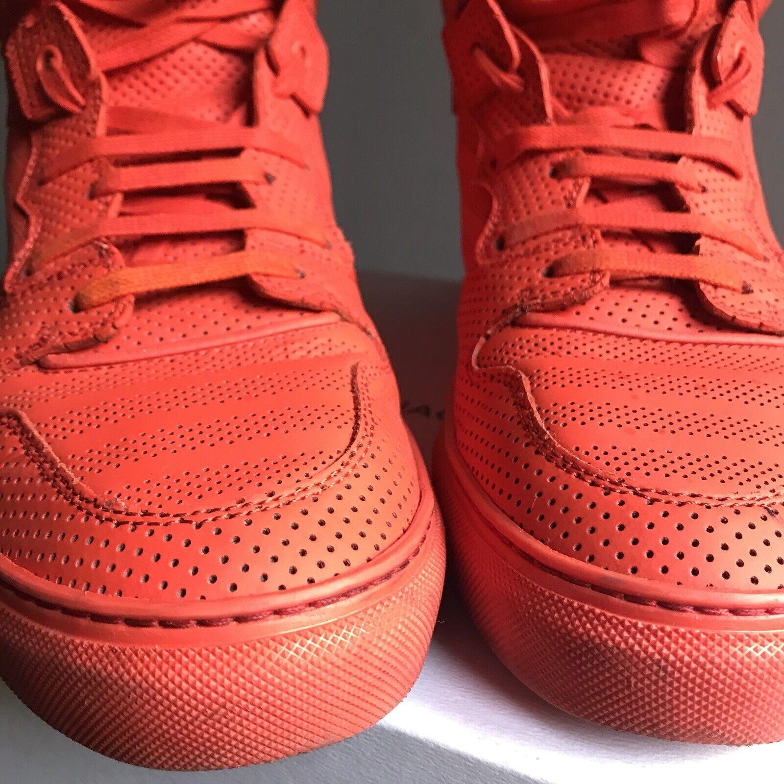 Balenciaga scarpe da ginnastica ginnastica ginnastica Piel  Perforado rosso Dimensione 40 e4d2f1