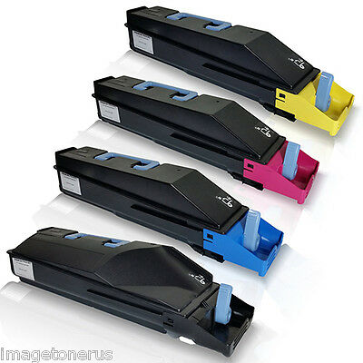 4-Pack Toner Cartridge Set for Kyocera TASKalfa 250ci 300ci 250 300 TK-867 TK867