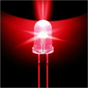 50PCS F5 5mm Red Straw Hat Superbright LED Lamp LED Light