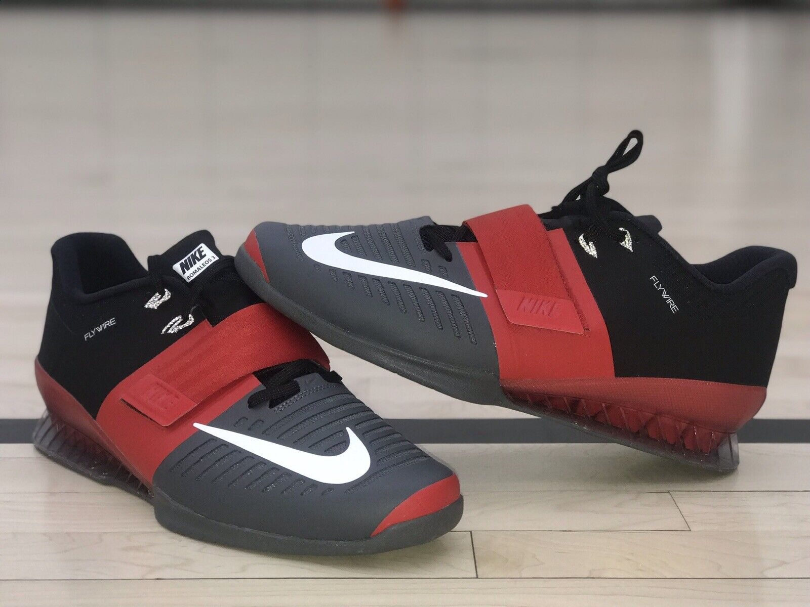 competitive price ffcdb a11d5 Nike Romaleos 3 Weightlifting shoes shoes shoes Sneakers shoes 852933-600  RED BLACK size 13