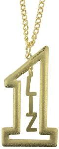 Vintage-Gold-Tone-Number-1-Name-Plate-Pendant-2-1-2-034-Necklace-22-034-Liz