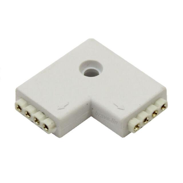 5pcs L Shape 4 Pin Female Connector For RGB 5050 3528 LED Light Strip
