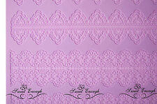 Large Lace Mat Mould sugar craft Silicone Cake cup cake decorating