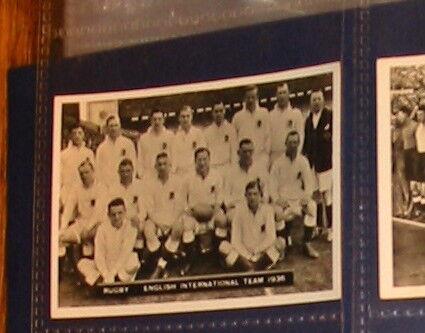 Carte de sport anglais anglais anglais Int RUGBY équipe 1936 #162 ecb2d3