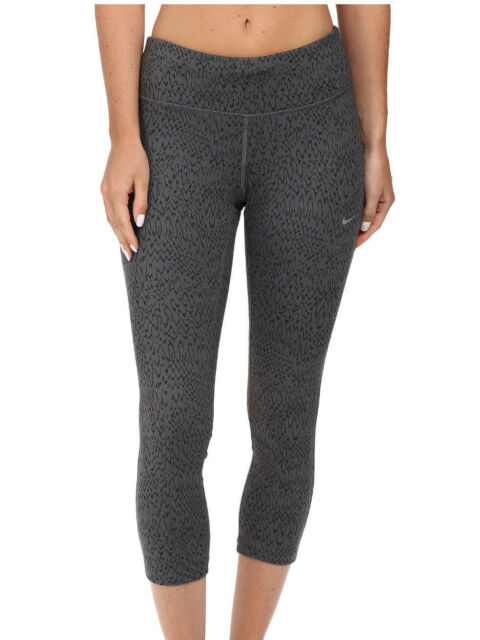 NIKE Power Tight Dri-Fit Women/'s Leggings Capris Black Grey 799818 Size S
