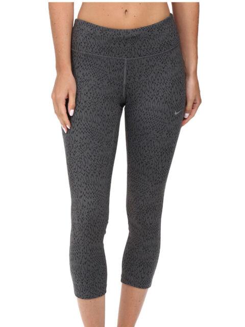 NIKE Power Tight Dri-Fit Women/'s Leggings Capris Black Grey 799818 Size S