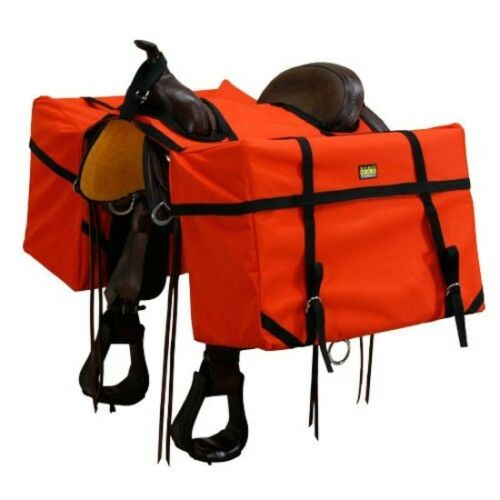 CHEVAL DE SELLE sacoches Sac Chasse Camping Equine Trail équitation Équestre NEUF