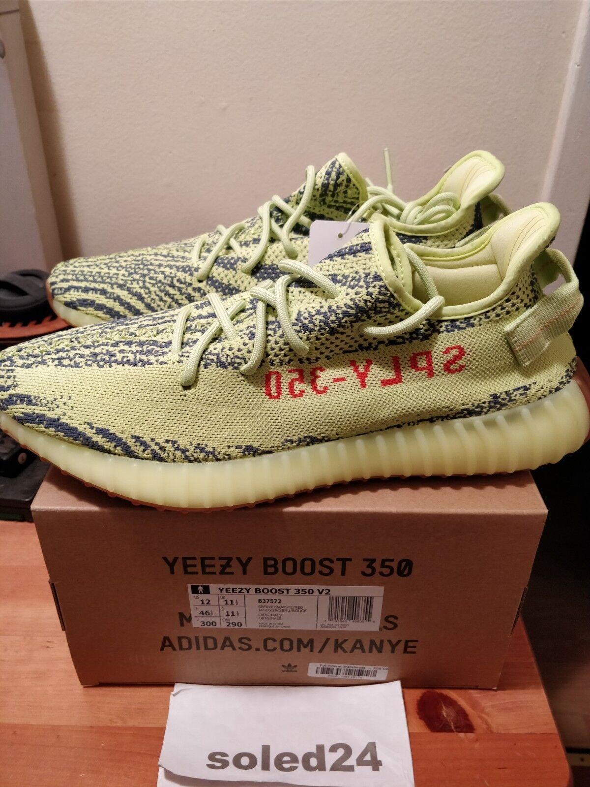 Adidas Yeezy Boost 350 V2 US 12 Semi Frozen Yellow B37572