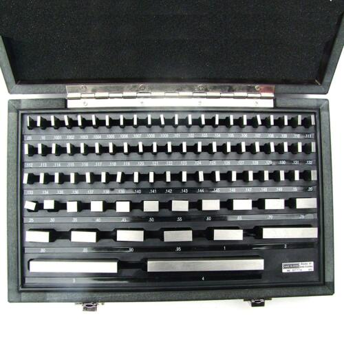 R HFS 81Pcs Grade B Gage Gauge Block Set Usa Cert Nist Traceable New