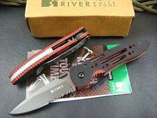 CRKT Crawford Design Point Guard 6763G Folding Lockblade Knife Black/Red