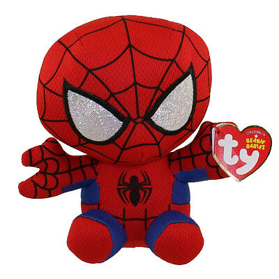 """2019 Ty Beanie Babies Marvel SPIDER MAN 6/"""" size IN HAND Miles Morales New"""