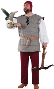 Deguisement-Homme-FAUCONNIER-Medieval-Luxe-L-costume-moyen-age-NEUF-pas-cher