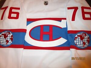 new style c57c3 34087 Details about Montreal Canadiens PK Subban Winter Classic Signed  Autographed COA