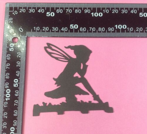 jar candle craft Toadstool//fairy//pixie silhouettes//die cuts  for card