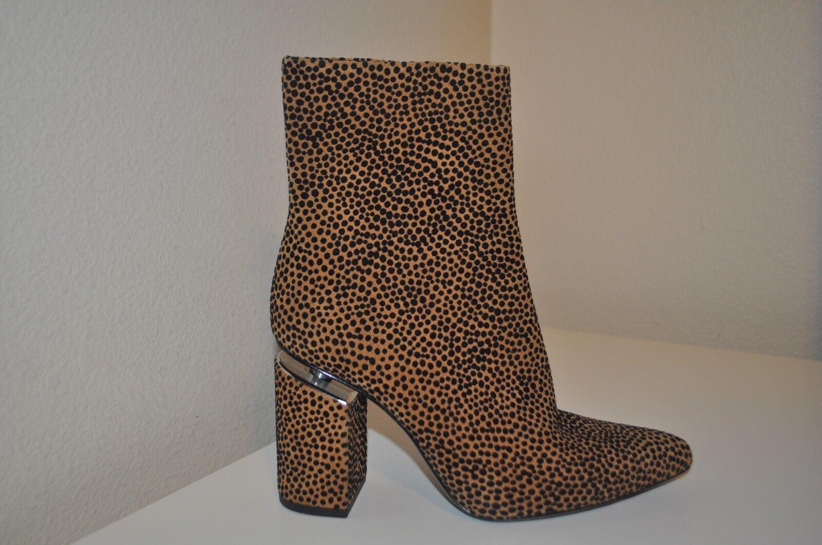 Nuevo Nuevo Nuevo  695+ Alexander Wang Kirby bota Leopardo Impresión De Gamuza. Bloque Talón botín 36-6  marca en liquidación de venta