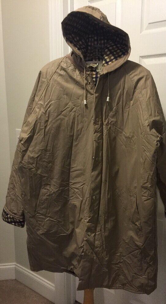 Stadium Parka Large Vintage Hooded Insulated Thermalite Rainskins Swell Wear