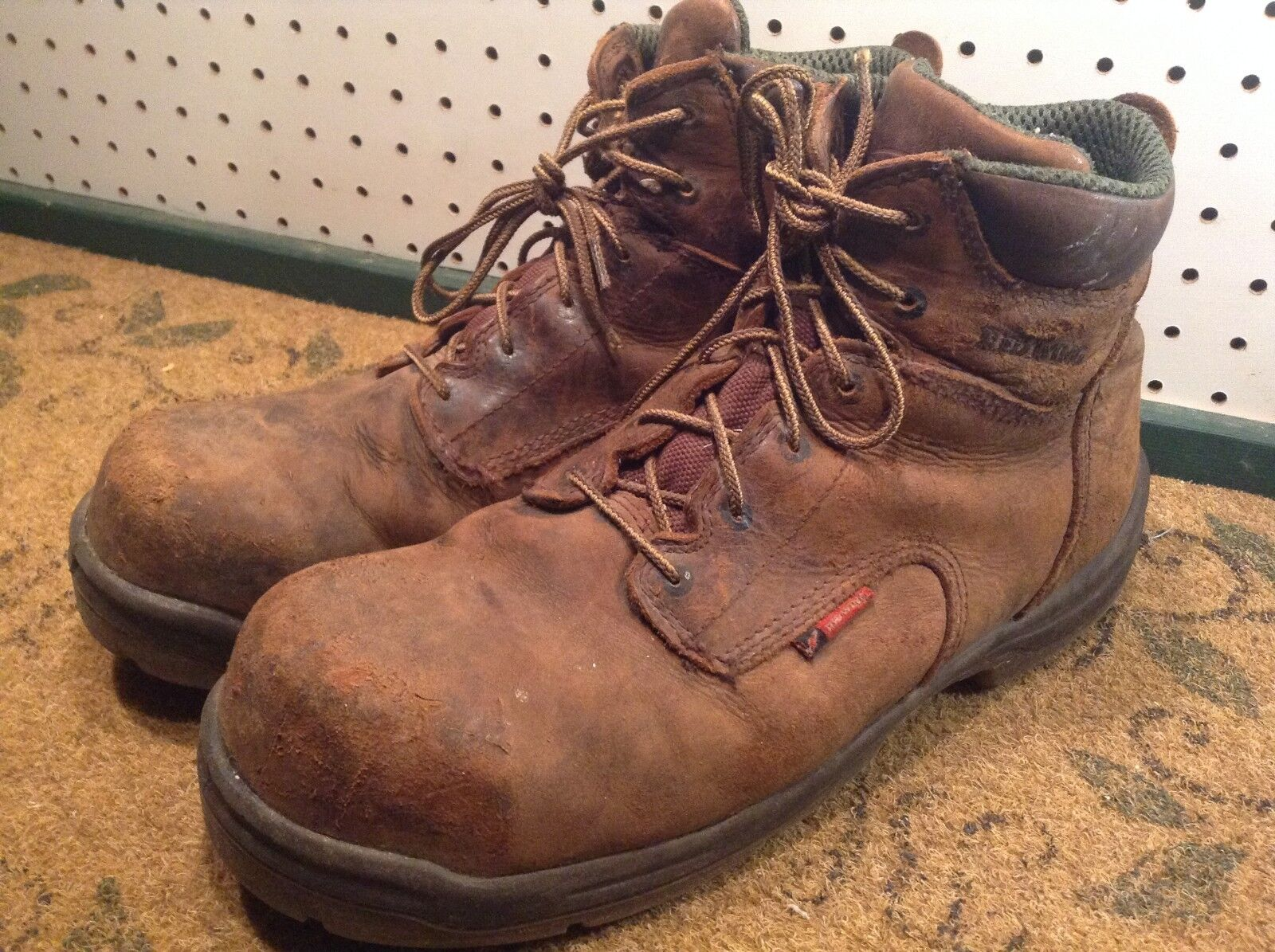 RED WING Men's 6 Leather Steel Toe Work Chore Boots size US 12 E2
