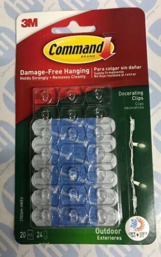 Commande 3M 17026H usage général décorer clips x 20 pour usage extérieur
