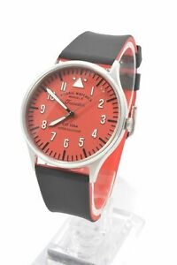 Fossil-FS5616-Forrester-Red-Dial-Silicone-Strap-Men-039-s-Watch