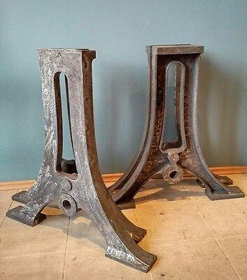 Paar Industrie Tischgestell Gartentisch Tischbeine Gusseisen //Nur die Beine