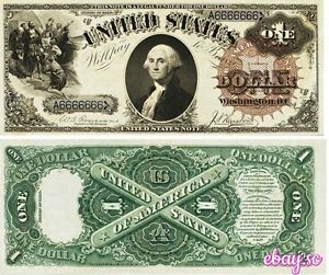 PREPRODUCTION-1-bill-dollar-1880-serial-number-solid-6-US-Unites-States