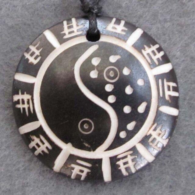 Tibetan Bone Taiji YIN-YANG Pendant Jewelry