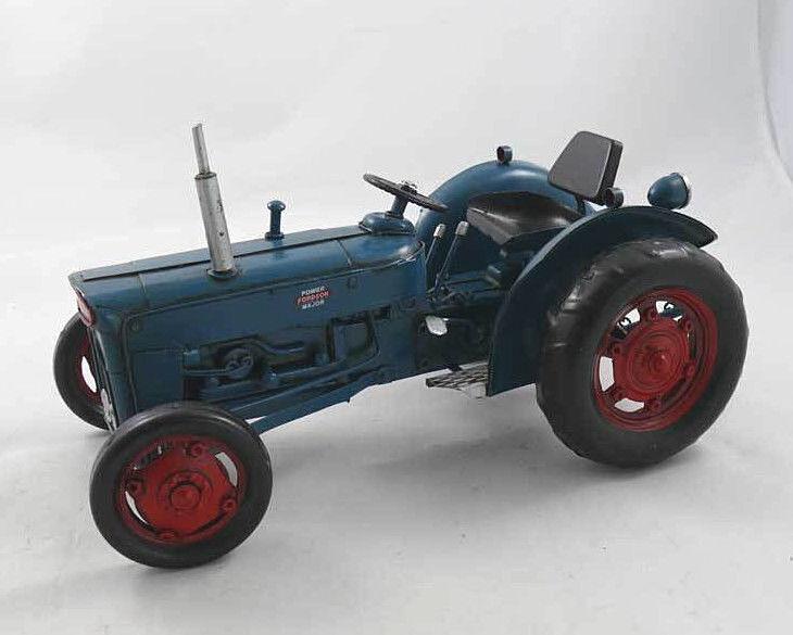 30cm - Blechmodell FORDSON SUPER DEXTRA 1964 - Traktor Metallmodell Metall Blech