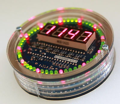 Round Rotation LED Electronic Clock  with DS1302 tube clock Nixie