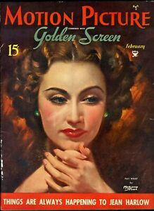 MOTION-PICTURE-FEB-1935-FAY-WRAY-cover-artist-MARLAND-STONE
