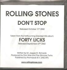"Rolling STONES ""Don 't Stop"" 3 Track Promo CD"