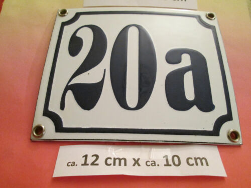 Emaille-Hausnummer Nr.24a dunkel-blau Zahl auf weißem Hintergrund 12 cm x 10 cm