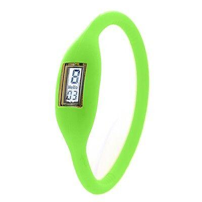 NiceUnisex Digital Silicone Jelly Anion Negative Sports Bracelet Watch Top Level