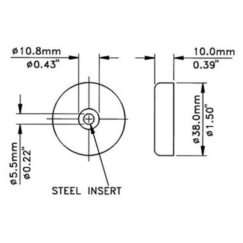 Cabinet//Amplifier Rubber Feet F1687