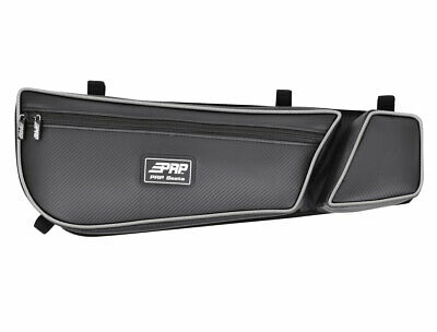 PRP Seats Black Vinyl Rear Stock Door Bag Pair Can-Am Maverick X3