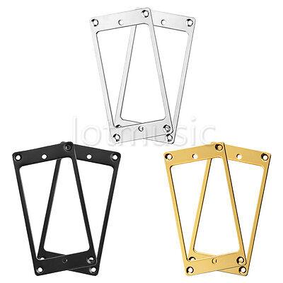6* FLAT Chrome\ Black \Gold FRAME FOR 1 1/2 X 2 3/4 GUITAR PICKUP