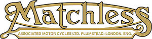 Classic Bike Decals Matchless Exterior Clear Vinyl Vintage Motorbike Stickers x2