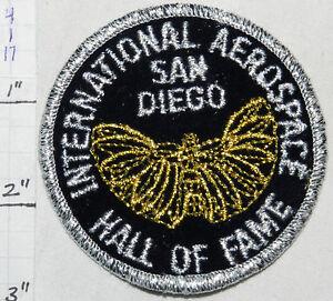 CALIFORNIA, SAN DIEGO INTERNATIONAL AEROSPACE HALL OF FAME SOUVENIR TRAVEL PATCH