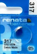 317 RENATA SR516SW SR516W WATCH BATTERIES New packaging Authorized Seller