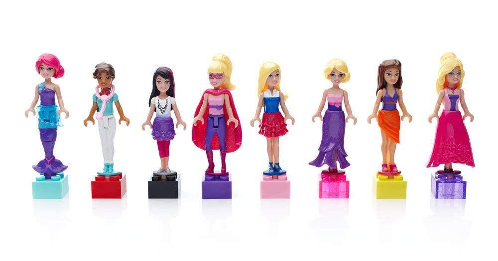 Mega Bloks Barbie Fashion 15 different Mini Figures Bundle
