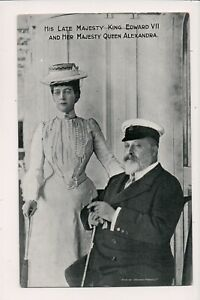Vintage-Postcard-King-Edward-VII-amp-Queen-Alexandra-of-Great-Britain