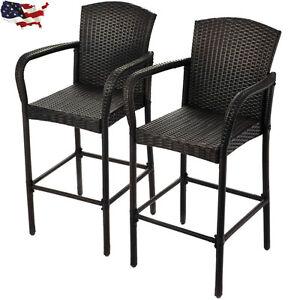 Rattan Wicker Bar Stool High Chair