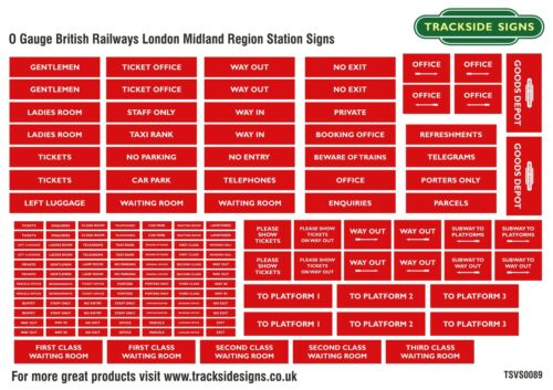 British Railways London Midland Region Model Railway Station Signs O Gauge 7mm