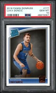 2018-19 Donruss #177 Luka Doncic Dallas Mavericks RC Rookie PSA 10 GEM MINT
