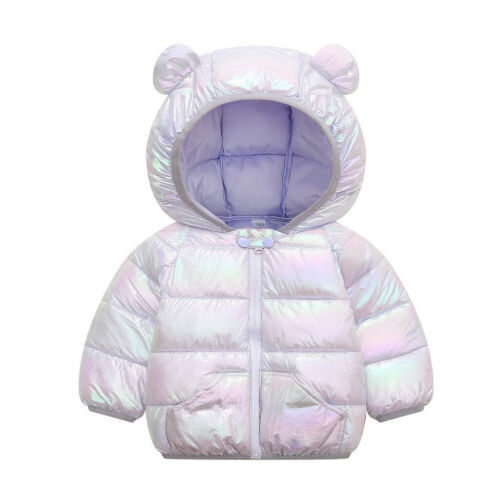Winter Toddler Baby Boys Girls Cartoon Windproof Coat Hooded Warm Outwear Jacket